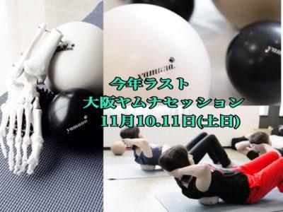 大阪ヤムナ・グループ&パーソナルセッション 11月10・11日(土日)開催